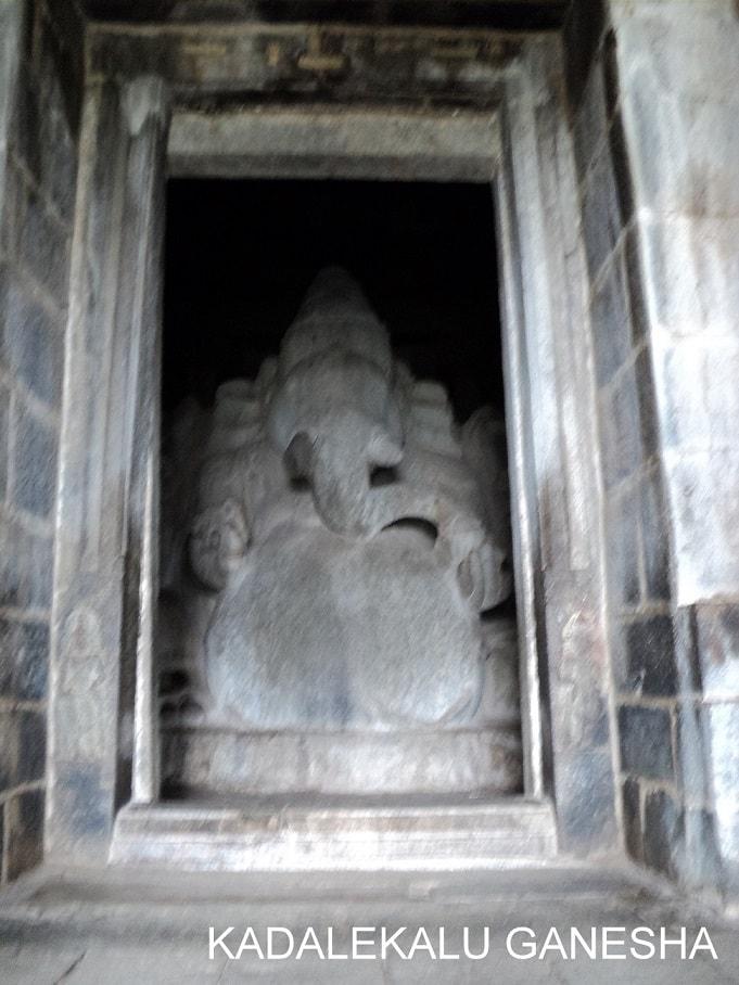 Kadlekalu Ganesh Statue, Hampi